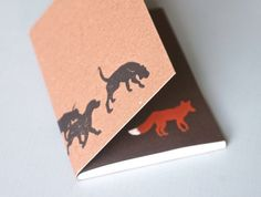 Hounds and Fox Notebook by LittleAlexander on Etsy, $12.00