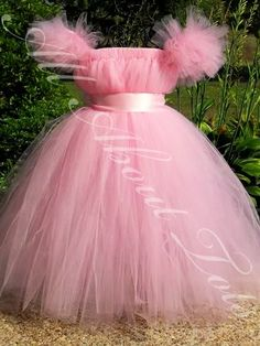 Pink Belle Tutu Dress Costume/Flower Girl Dress/Sleeping Beauty Tutu Dress Costume