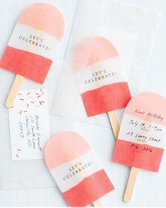 cute homemade birthday invites - Google Search