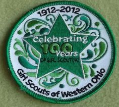 Girl Scouts Western Ohio Celebrating 100 Years 100th Anniversary patch