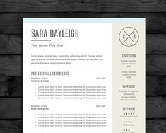 resume template cv template pc mac free cover letter us letter a4 instant download editable word doc docx pages - Pages Resume Templates Free