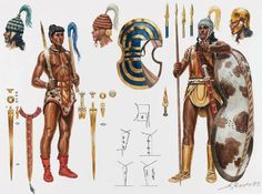Late Minoan warrior, B. - art by Giuseppe Rava Creta, Greek History, Ancient History, Greek Warrior, Warrior 1, Minoan Art, Alexandre Le Grand, Mycenaean, Trojan War