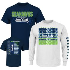 Show your support on the sidelines with this amazing NFL T combo! Go Seahawks!