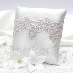 PODUSZKA na obrączki Brigitte White Dream #slub #wesele #sklepslubny #slubnezakupy #dekoracje