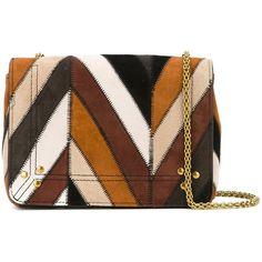 Jérôme Dreyfuss Damen striped crossbody bag - reduziert (€965) ❤ liked on Polyvore featuring bags, handbags, shoulder bags, сумки, striped purse, cross body, striped handbag, brown purse and brown crossbody
