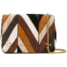 Jérôme Dreyfuss Damen striped crossbody bag - reduziert (€965) ❤ liked on Polyvore featuring bags, handbags, shoulder bags, сумки, striped purse, cross body, striped handbag, brown purse and brown crossbody