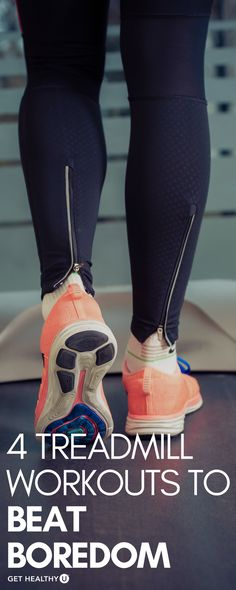 Check out these 4 treadmill workouts to beat boredom! Forget everything youthoughtyou knew about this tried-and-true machine; the treadmill is the perfect way to get a killer cardio workout today. Read on to learn the benefits of working out on a treadmill and then download our four amazing workouts to beat treadmill boredom.
