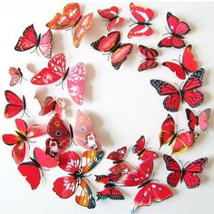 12x Red DIY 3D Butterfly Wall Stickers Art Decal Home Room Decorations Decor V5 #Unbranded #ModernFashion