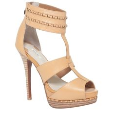HAND WAXED LEATHER SANDALS-8.5-ORANGE from Max Studio on shop.CatalogSpree.com, your personal digital mall.