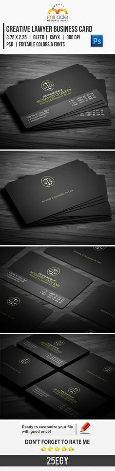 Creative Lawyer Business Card by EgYpToS