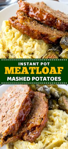 Make a whole nutritious dinner in one pot with this quick and easy Meatloaf and Mashed Potatoes recipe! INGREDIENTS For the Meatloaf: . Eay Dinner Recipes, Winter Dinner Recipes, Breakfast Recipes, Dinner On A Budget, Dinner Ideas, Easy Meatloaf, Lunches And Dinners, Potato Recipes, Instant Pot