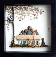 Family Pebble Art | DIY Christmas Gifts for Family Inexpensive | Handmade Christmas Gifts for Friends #ad