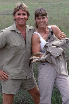 The Late Steve Irwin, with wife Terri Irwin. What Steve did for the natural world was phenomenal.