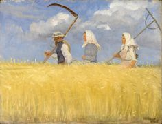 'Harvesters', 1905 - by Anna Archer   The Skagen Painters.