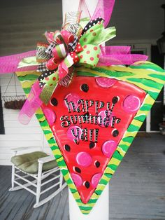 a slice of summerwhimsical watermelon summer by dillydAllie