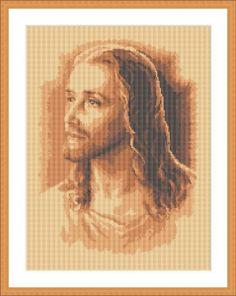 Jesus Christ free cross stitch pattern