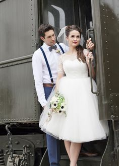 Vintage Railway Wedding Inspiration - http://fabyoubliss.com/2015/04/17/vintage-california-railway-wedding