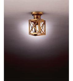 Northeast Lantern Suffolk 1 Light Flush Mount in Antique Brass 5014-AB-MED-CLR #lightingnewyork #lny #lighting