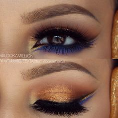 Love the gold and blue undertone