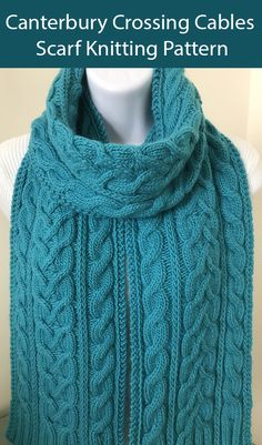 Cable Scarf Knitting Patterns- In the Loop Knitting Cable Knitting Patterns, Lace Knitting, Quick Knits, Etsy, Cable Knit Scarves, Knitting Scarves, Loop Scarf, Cowls, Female