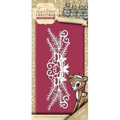 Stencil Die Yvonne Creations - Traditional Christmas - Holiday Garland YCD10055