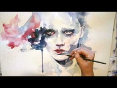JUST WATCH THIS!!! I PROMISE YOU WILL ENJOY IT< EVEN IF YOU DO NOT PAINT> Portrait watercolor - Speed painting