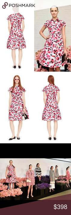 Kate Spade New York Rosebud Structured Shirtdress Everything's coming up roses: this pretty print, an un-fussy floral, is sure to put a spring in your step. The bright blooms serve as a feminine counterpoint to the shirtdress' structured shape, for a look that's equal parts chic and cheerful. 100% polyester. Collared. Shirtdress. Side seam zipper. Dry clean. Very much a timeless fashon editor's dress. Retails $498. kate spade Dresses Midi