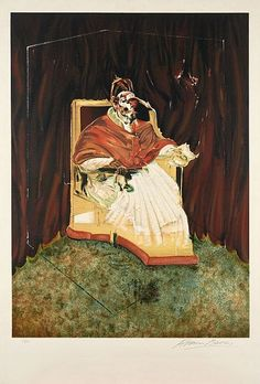 Francis BACON (1909-1992) STUDY FOR PORTRAIT OF POPE INNOCENT X, 1980