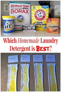Homemade laundry detergent recipes were put to the test and the results were shared ~ which homemade laundry detergent is best? https://www.hometalk.com/l/EGf
