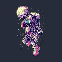 Awesome 'Astronaut+Dunk' design on TeePublic!