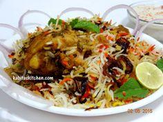 Traditional Chicken Dum Biryani-Hyderabadi Chicken Dum Biryani Step by Step-Chicken  Biryani Restaurant Style, ,