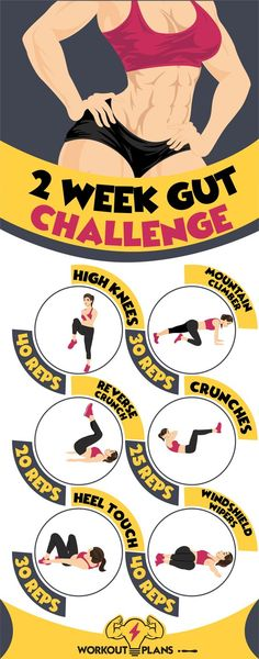 2 Week Gut Challenge - Upper Abs, Middle Abs, Lower Abs Workouts - Butt And Gut Challenge - Fitness Workouts, Fitness Herausforderungen, Mens Fitness, At Home Workouts, Health Fitness, Health Diet, Fitness Fashion, Health Care, Exercise Workouts
