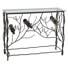 This iron wine table's branch-inspired base isn't just beautiful-it's practical, too