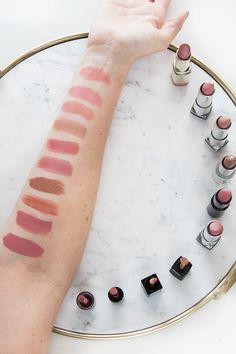 The best drugstore nude lipsticks - so many beautiful choices! #drugstoremakeup #drugstorebeauty #lipstick #drugstorelipstick #affordablemakeup
