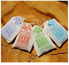 wild flower seeds - wedding favours