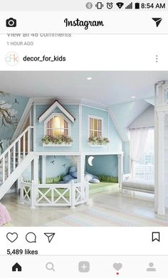 little girls bedroom or play room. - - room, Cute little girls bedroom or play room. - - room, Cute little girls bedroom or play room. Cute Bedroom Ideas, Girl Bedroom Designs, Awesome Bedrooms, Cool Rooms, Bed Ideas, Small Rooms, Loft Ideas, Kids Bedroom Ideas For Girls, Bed Designs