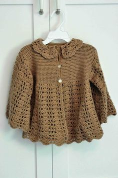 """Would be cute in contrasting colors also. Similar to the """"Ravelry: Aunt Jen's Sweater"""" pattern on my board."""