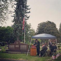 Sumner Memorial Day Ceremony #memorialday #sumner #weremember #landofthefree #becauseofthebrave #ultimatesacrifice