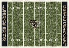 Wake Forest Home Field Rug in Wake Forest Demon Deacons (End Zone Color: Black) from ACWG
