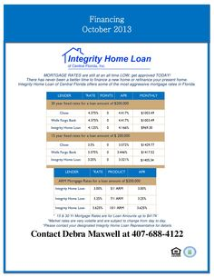 Mortgage rates dropped WAY down this week!  Lock in your rate if you are buying a home.  And if you would like a rebate back on your new construction home in Florida?  Well you can find me on facebook:  Florida New Construction Rebate Program.