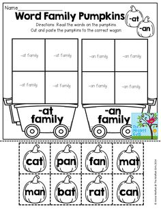 Word Family Word Sort (cut and paste)!
