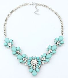 GR JEWELRY Wholesale Bohemia Rhinestone Necklaces Flowers For Women Fashion Necklaces