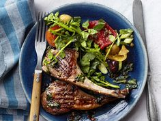 Grilled Lamb Chops With Mint Recipe : Food Network Kitchen : Food Network - FoodNetwork.com