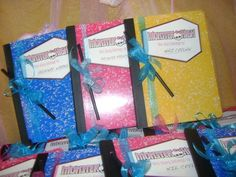 Monster High Slumber Party / Birthday / Party Favors: Would be cute just using pink and black compostion books Slumber Party Birthday, 9th Birthday Parties, Sleepover Party, Slumber Parties, 10th Birthday, Birthday Party Favors, Birthday Ideas, Theme Parties, Diy Birthday