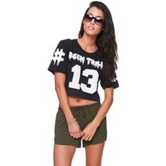 Been Trill Crop Top Black and white Been Trill crop top. Size: X-Small has the number 13 on the front and has two #'s on the back. Been Trill Tops Crop Tops