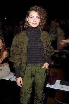 Camren Bicondova at the Vivenne Tam fashion show during New York Fashion Week
