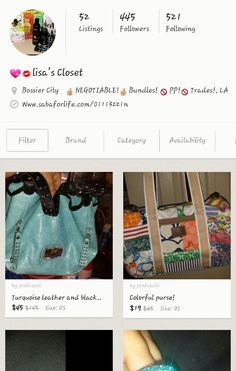 Check out my closet for sale!