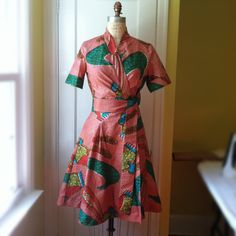 African Wax Print Wrap Dress