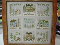 Willow Tree Stitcher: A few finishes to celebrate Cross Stitch House, Cross Stitch Samplers, Cross Stitch Charts, Cross Stitch Designs, Cross Stitching, Cross Stitch Embroidery, Cross Stitch Patterns, Loom Patterns, Country Cottage Needleworks