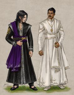 Finery by slugette on DeviantArt - Wearing fine robes, Indian sherwani inspired <<< Dorian in traditional Indian clothes will always be my weakness. Fantasy Inspiration, Character Design Inspiration, Larp, Character Outfits, Character Art, Dragon Age Inquisition, Fantasy Costumes, Sherwani, Indian Outfits